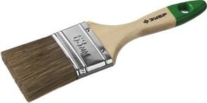 Кисть плоская Зубр Лазурь-Мастер 4-01009-63, смешанная щетина, 63мм, деревянная ручка