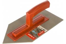 Гладилка плоская ЗУБР 08145, 140x280, с уголком, полотно нержавеющая сталь, пластиковая ручка