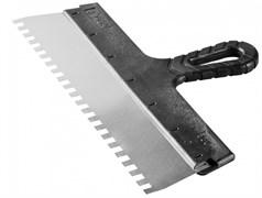 Шпатель зубчатый СИБИН 10078-15-06, 150мм, фасадный, зубья 6x6мм, полотно нержавеющая сталь, пластиковая ручка