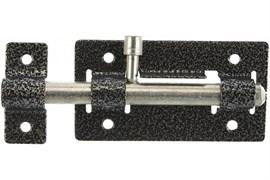 Задвижка/засов дверная ЗД-01 Кунгур, 115x67мм, накладная, круглый засов, серебро