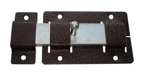 Задвижка/засов дверная ЗД-02 Кунгур, 115x75мм, накладная, плоский ригель, медь
