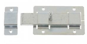 Задвижка/засов дверная ЗД-02 Кунгур, 115x75мм, накладная, плоский ригель, цинк