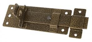 Задвижка/засов дверная ЗД-13 Секрет, 180x75мм, с проушиной, бронза