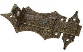 Задвижка/засов дверная ЗД-14 Секрет, 180x65мм, с проушиной, бронза