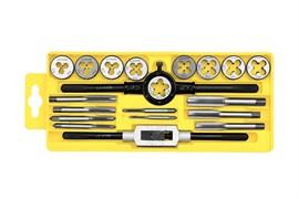 Набор метчиков и плашек STAYER Мастер 28012-Н20: метчикодержатель 1шт, плашкодержатель 1шт, метчики 9шт
