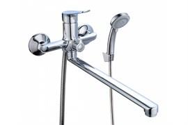 Смеситель для ванны BOOU B8290-18F, однорычажный, картридж 35мм, латунь, хром
