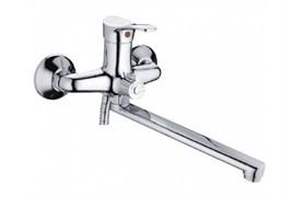 Смеситель для ванны LEDEME L2214-В, излив 300мм, дивертор в корпусе, цинк
