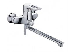 Смеситель для ванны LEDEME L2225, излив 300мм, дивертор в корпусе, латунь, хром