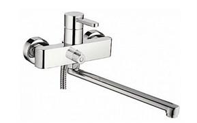 Смеситель для ванны LEDEME L2243-В, излив 300мм, дивертор в корпусе, цинк
