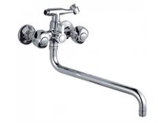 Смеситель для ванны LEDEME L2726, излив 350мм, с картриджным переключателем, цинк