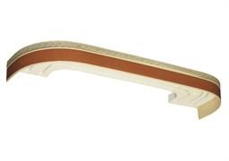 Карниз Греция, 3-рядный, 2.4м, багетный для штор, с поворотами, вишня, бленда 5см