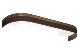 Карниз Греция, 3-рядный, 3.6м, багетный для штор, с поворотами, венге, бленда 5см