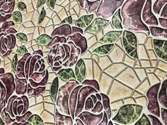 Панель листовая Каменная роза, 484х962х0.4мм, мозаика, ПВХ