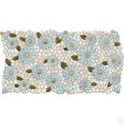 Панель листовая Ромашковая фантазия, 488х955х0.4мм, мозаика, ПВХ