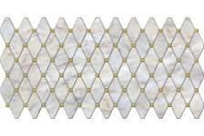 Панель листовая Топаз серый, 488х975х0.4мм, мозаика, ПВХ