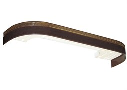 Карниз Греция, 3-рядный, 2.6м, багетный для штор, с поворотами, венге, бленда 5см