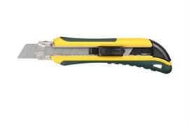 Нож KRAFTOOL UNI, с сегментированным лезвием и металлическими направляющими, 18мм, 6 сменных лезвий в комплекте