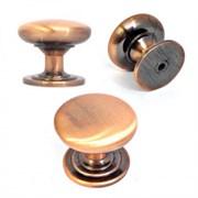 Ручка-кнопка мебельная грибок, большая, золото
