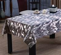 Клеенка столовая TANGO 243-035, 3D, 140см, ПВХ на тканевой основе, металлик