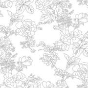 Клеенка столовая LASER 4879В, 80см, ПВХ, прозрачная с печатью