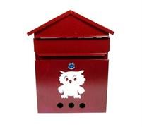 Ящик почтовый Домик №2 Сова, 350x240мм, вишня, с замком