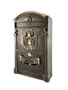 Ящик почтовый OLIMP МВ-01, 410х250мм, с замком, патина бронза