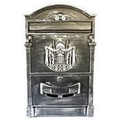 Ящик почтовый OLIMP МВ-01, 410х250мм, с замком, патина серебро