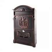 Ящик почтовый OLIMP МВ-01, 410х250мм, с замком, патина медь