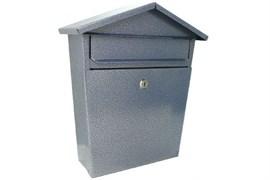 Ящик почтовый ДОМИК VIP, 350x270мм, серебро, с замком