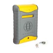 Ящик почтовый Стандарт, 380x270мм, серый с желтым, с металлическим замком