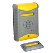 Ящик почтовый Стандарт, 380x270мм, серый с желтым, с пластиковой защелкой и накладкой