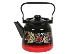 Чайник С2716.38, 3.5л, эмалированный, с рисунком, красно-чёрный