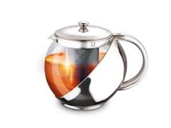 Чайник заварочный LARA LR06-10, 750мл, ручка из стали, стальной фильтр