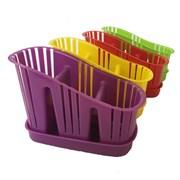 Сушилка для столовых приборов MPG5828, 3-секционная, пластиковая, микс