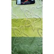 Коврик в ванную Санакс 00206 SILVER, 60х100+50х60см, двойной, полиэстер, зеленый