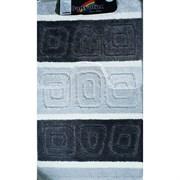 Коврик в ванную Санакс 00211 SILVER, 60х100+50х60см, двойной, полиэстер, черный