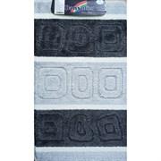 Коврик в ванную Санакс 00218 SILVER, 60х100см, одинарный, полиэстер, черный