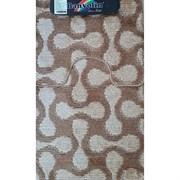 Коврик в ванную Санакс 00256 CLASSIK MULTI, 55х90+45х55см, двойной, полиэстер, коричневый