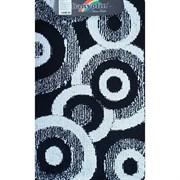 Коврик в ванную Санакс 00263 CLASSIK MULTI, 55х90см, одинарный, полиэстер, черный
