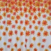 Штора для ванной комнаты Санакс 01-15, оранжевые цветы