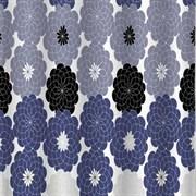 Штора для ванной комнаты Санакс 01-34, Цветные хризантемы