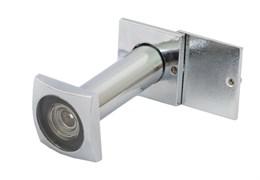 Глазок дверной FERRE Square DV 204 50-90 CP, диаметр 16мм, квадратный, стеклянная оптика, алюминий, хром