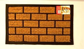 Коврик напольный Кирпич, 40x60см, кокосовый на резиновой основе FМR