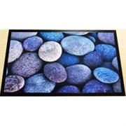 Коврик придверный Принт Морские камни, 45х75см, резиновый с ПВХ