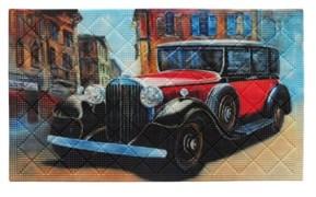 Коврик придверный Авто, 45х75см, фотопринт, ПВХ