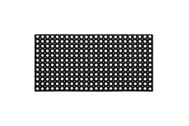 Коврик ячеистый грязесборный RH, 80x120см, 22мм, черный, резиновый
