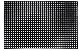 Коврик ячеистый грязесборный RHH, 100x150см, 22мм, черный, резиновый