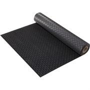 Коврик-дорожка против скольжения VORTEX Пятачки, 2.3ммx0.9x10м, ПВХ, черный, на метраж