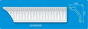Угловой элемент для потолочного плинтуса Лагом Формат 209008, экструзионный, длина 2м, белый