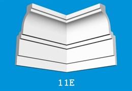 Угловой элемент Лагом Формат 11Е для потолочного плинтуса 10511E , внутренний, экструзионный, белый